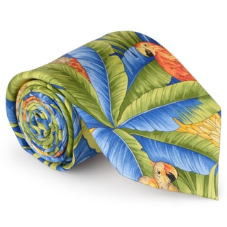 Tommy Bahama Men's Handmade Tropical Print Silk Tie