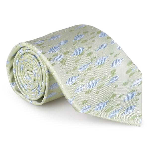 Tommy Bahama Men's Handmade Fish Print Silk Tie
