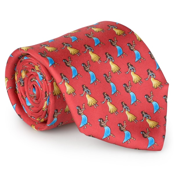 Tommy Bahama Men's Handmade Luau Dancer Silk Tie