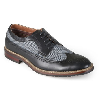 Vance Co. Men's Round Toe Wing Tip Lace-up Oxford Dress Shoes