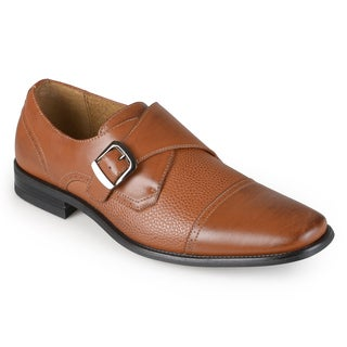 Vance Co. Men's Slip-on Buckle Oxfords Dress Shoes