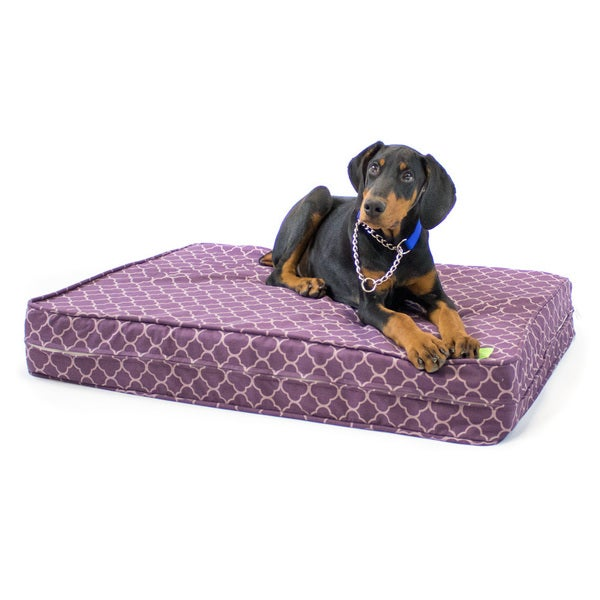 Medallion Gel Memory Foam Orthopedic Dog Bed with Waterproof Cover