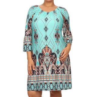 Plus Paisley Tapestry Dress