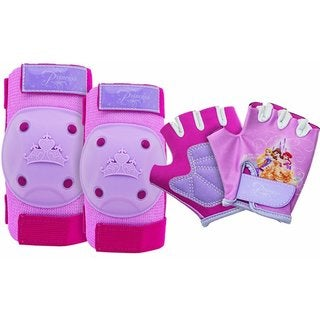 Official Disney Knee Pads & Elbow Pads Bike Gear - Pink Kids Knee Pads