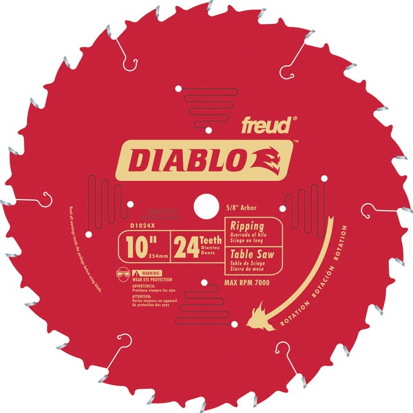 "Freud D1024X 10"" 24T Circular Saw Ripping Blade"