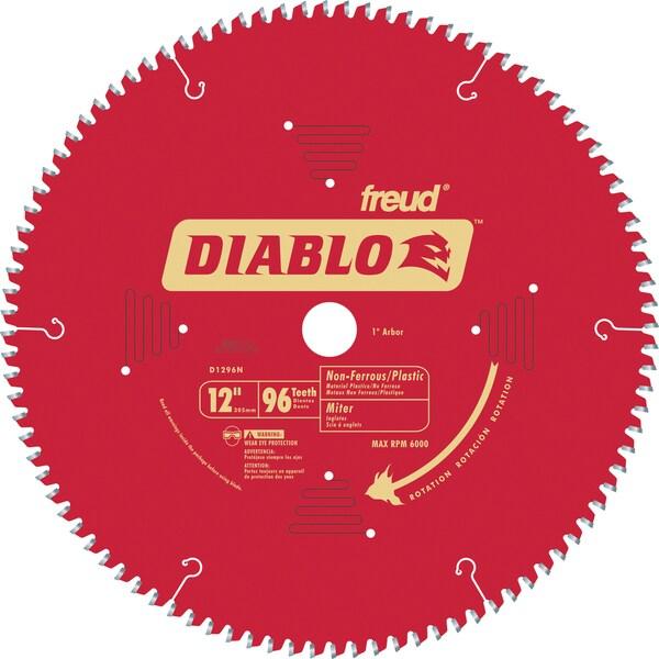 "Diablo D1296N 12"" 96T Diablo Non-Ferrous & Plastic Chop/Slide Miter Saw B"