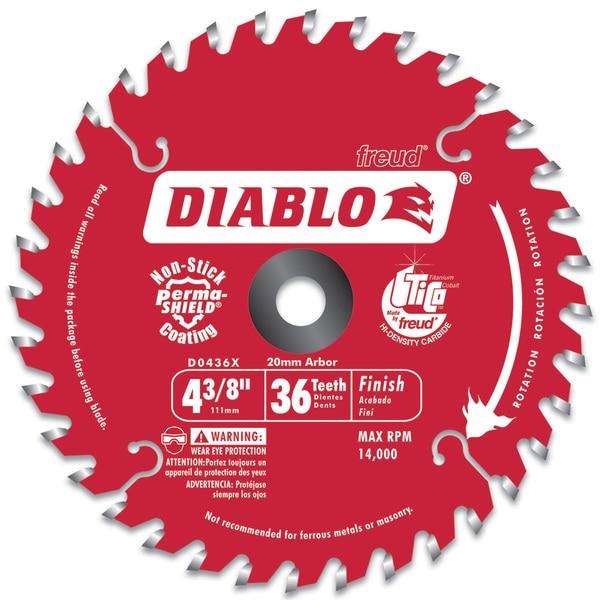 "Diablo D0436X 4-3/8"" Hi-Density 36 Tooth Diablo Cordless Trim Saw Blade"