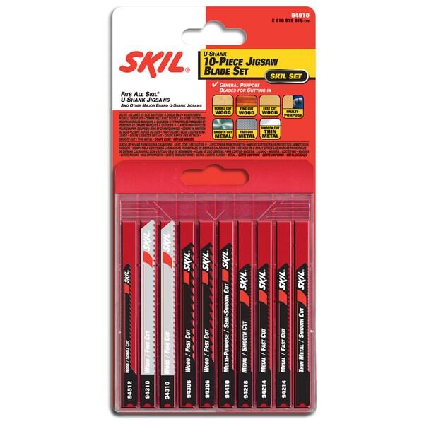 Skil 94910 U Shank Jigsaw Blade Set 10-count