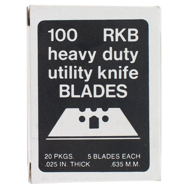 Allway Tools RKB100 100-count 3 Notch Utility Knife Blades