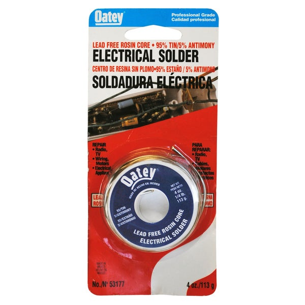 Oatey 53177 Lead Free Rosin Core Wire Solder