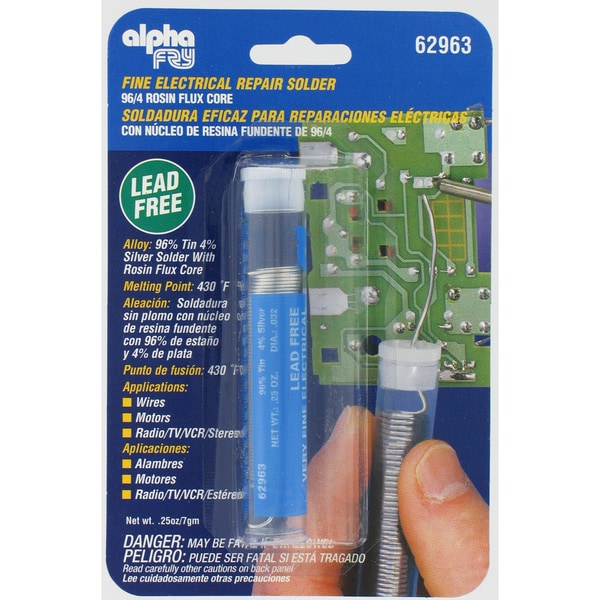 Alpha Fry AM62963 Lead-Free Rosin Core Solder & Dispenser