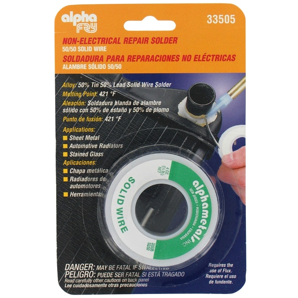 Alpha Fry AM33505 50/50 Solder Solid Wire