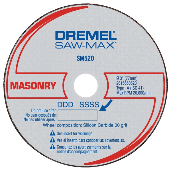 "Dremel SM520C 3"" Masonry Cut-Off Wheel"