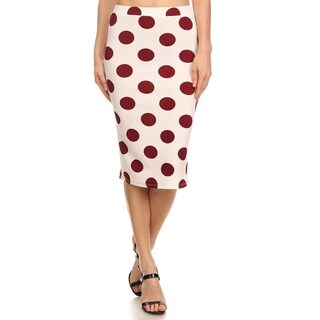 MOA Collection Polka Dot Pencil Skirt