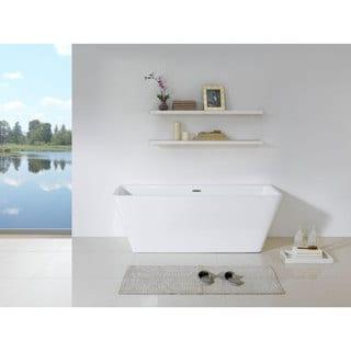 Bellagio 58-inch x 28-inch White Rectangle Soaking Bathtub