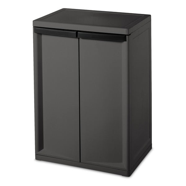 Sterilite 01403V01 Heavy Duty 2-shelf Cabinet 18043087