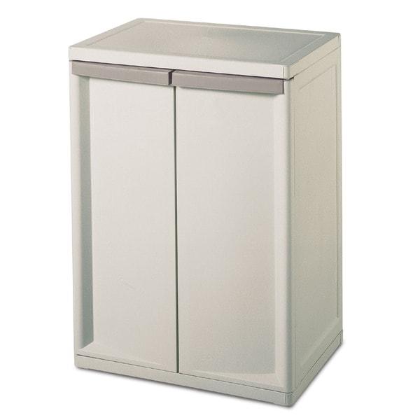 Sterilite 01408501 Heavy Duty 2 Shelf Cabinet