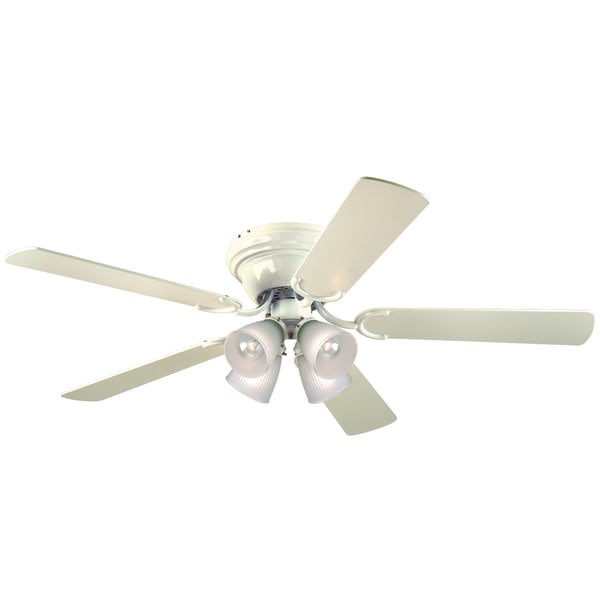 "Westinghouse 7871500 52"" White Five Blade Reversible Ceiling Fan With Lights"