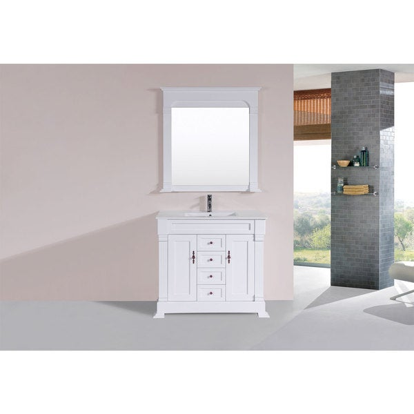 40 Inch Balboa White Single Traditional Vanity With