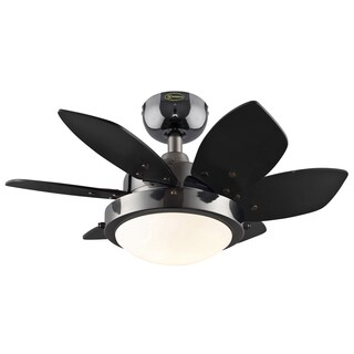 "Westinghouse 7224300 24"" Gun Metal Six Blade Reversible Ceiling Fan With Light"