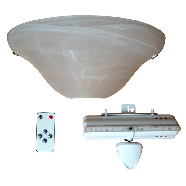 It's Exciting Lighting IEL-4300 Frosted Marble Glass LED Half Moon Wall Sconce