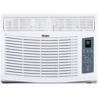 Haier HWE10XCR 10,000 BTU 115V Window-mounted Air Conditioner and Magnetic Remote with Braille