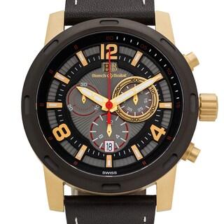 Buech & Boilat Baracchi Men's Ronda 5030.D Sapphire Intensely Textured multi-level Dial Superluminova Swiss Chronograph Watch
