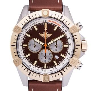 Zentler Freres Ravenmocker Pilot's Chronograph Men's Miyota OS20 Movement Genuine Leather Swiss Chronograph Watch