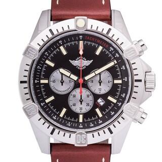 Zentler Freres Ravenmocker Pilot's Men's Miyota OS20 Movement Genuine Leather Swiss Chronograph Watch