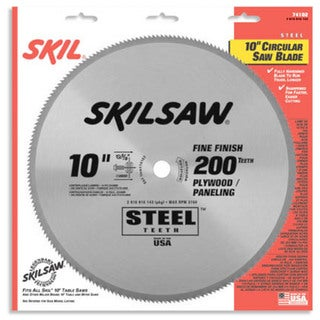 "Skil 74102 10"" 200 Tooth Steel Circular Saw Blade"