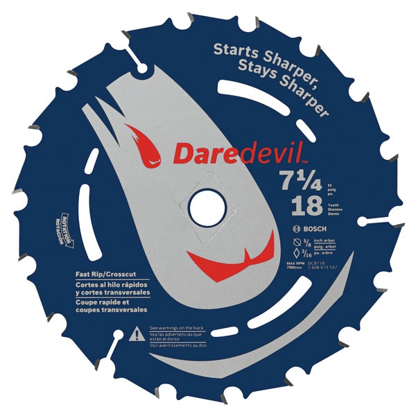 "Daredevil DCB718 7-1/4"" 18 TPI Daredevil Blade For Portable Saws"