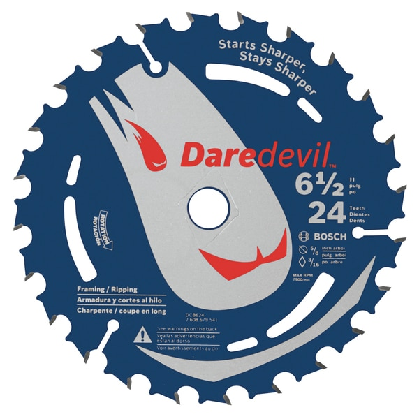 "Daredevil DCB624 6-1/2"" 24 TPI Daredevil Blade For Portable Saws"