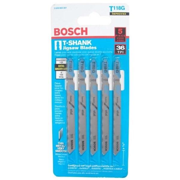 "Bosch T118G T-Shank Metal Jig Saw Blades 3"""