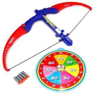 Velocity Toys Athletics Bow Toy Bow and Suction Dart Playset with Suction Darts and Target