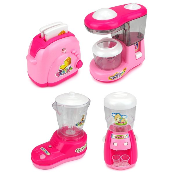 Velocity Toys My Little Household Pretend Play Battery Operated Toy Home Appliances Play Set with Accessories