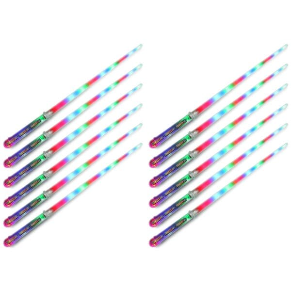 Velocity Toys Clear Star Flashing LED Light Up Party Favor Toy Light Sword Sabers (Set of 12) 18045738