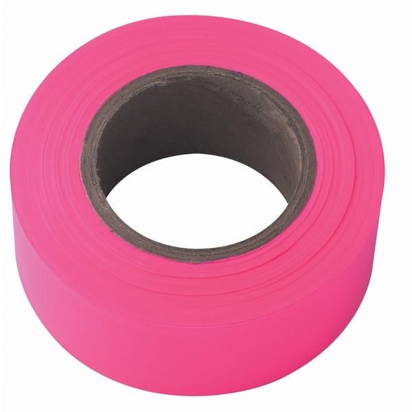 Irwin Strait Line 65603 150' Pink Fluorescent Flagging Tape