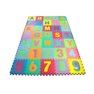 Matney Foam Floor 36-piece Alphabet and Number Puzzle Mat