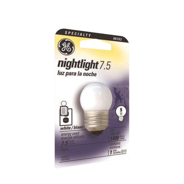 GE Lighting 41267 8 Watt Globe Night Light Bulb