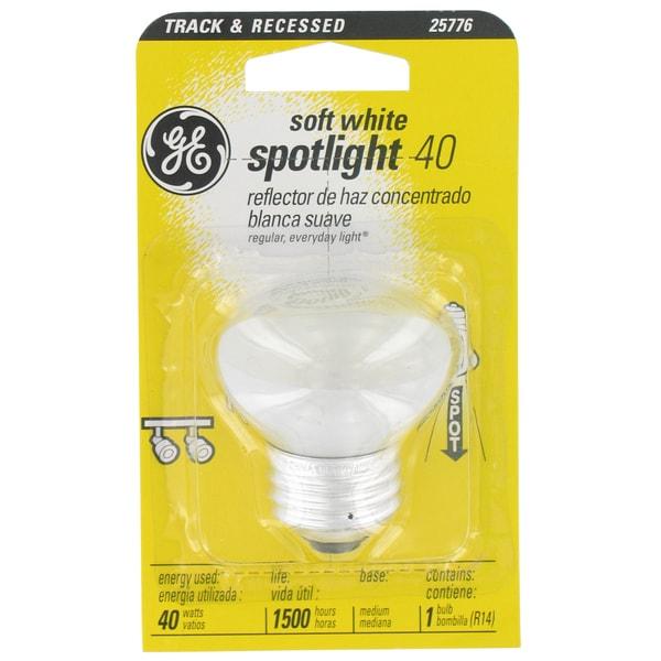 GE Lighting 25776 40 Watt Soft White Spotlight Light Bulb