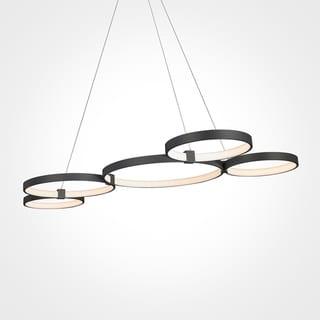 VONN Lighting VMC32410BL Capella 50-inch Integrated LED Multi-Ring Adjustable Chandelier