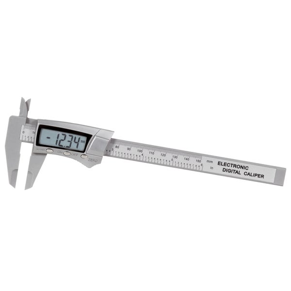 "General 146 6"" Carbon Fiber Digital Fractional Caliper"