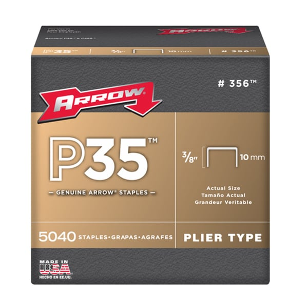 "Arrow Fastener 356 3/8"" P35 Staples"