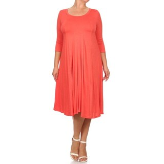 MOA Collection Women's Plus Size A-Line Dress