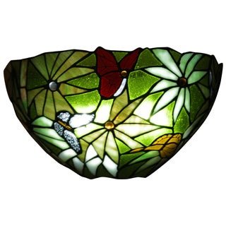 It's Exciting Lighting AMB 3000 Stained Glass Rainforest Sconce