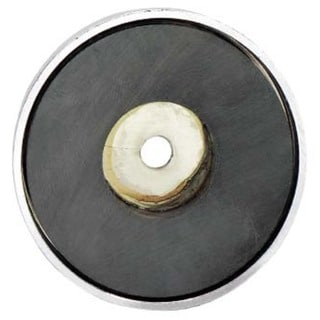 "General 376D 3-1/4"" Shallow Pot Ceramic Magnets"