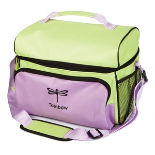 Tombow Storage Tote Lavender and Green 12-inch x 9-inch x 10