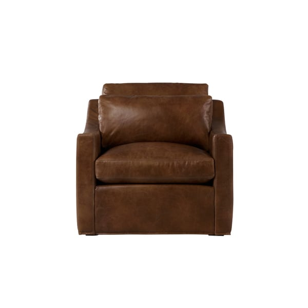 Duffy Contemporary Leather Chair