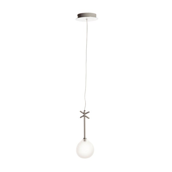 Pendant Lamp with Frosted White Glass Globe