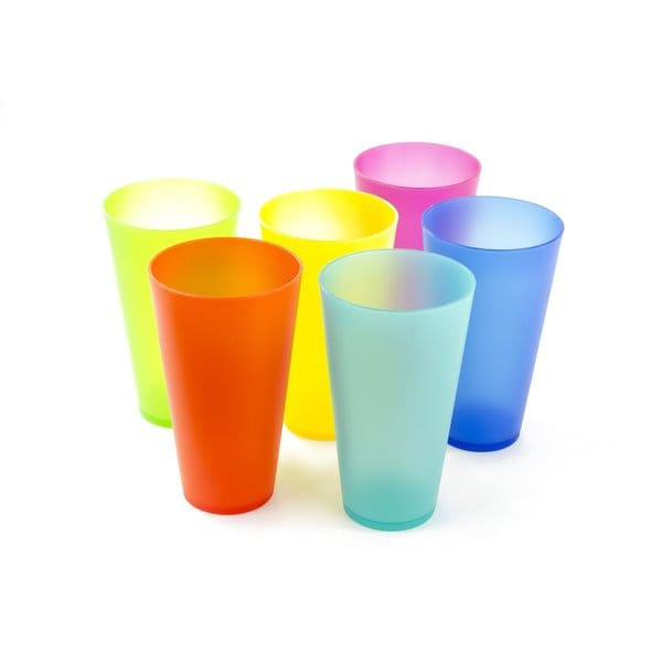 6 Pack Colorful Reusable Party Cups - Cute Picnic Drinkware 18047544
